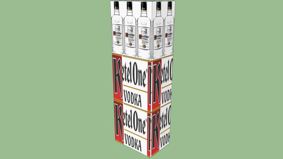 Ketel One Vodka 1.75 Liter 3 Case Stacker