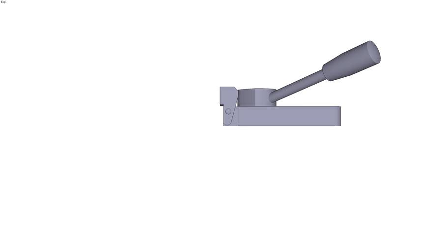 Horizontal adjustable cam clamp - Form D - left rotation - 121.5 x 40 x 40 mm