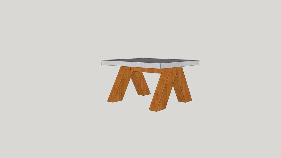 Living Room Table Concrete Plate | Wohnzimmertisch Betonplatte