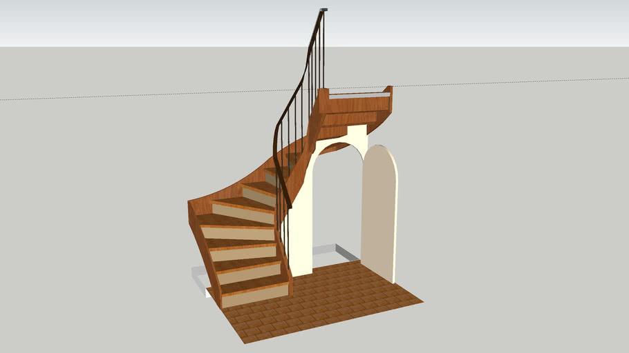 Escalier debillarde 3D