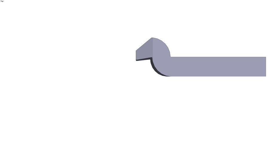Swan neck clamp - 200 x 60 x 30 mm