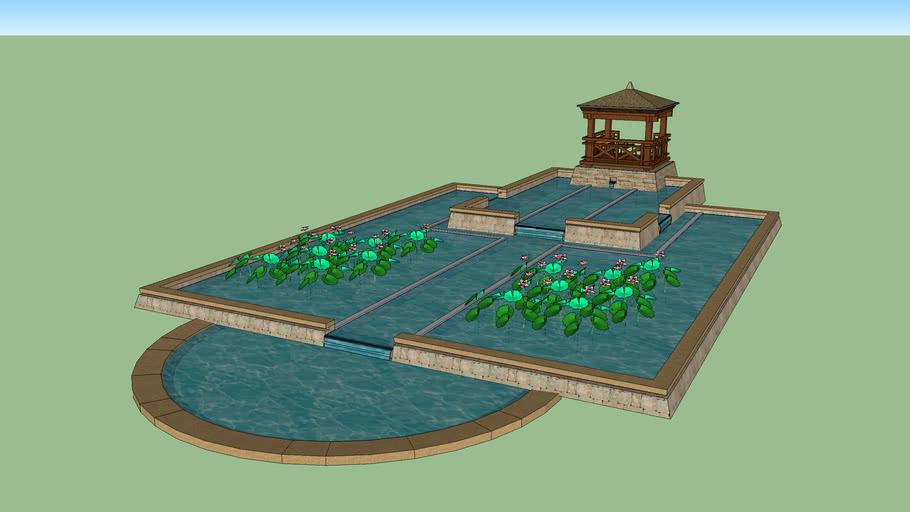 景觀水池涼亭