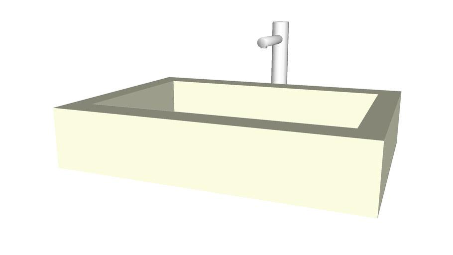 Modern rectangular sink