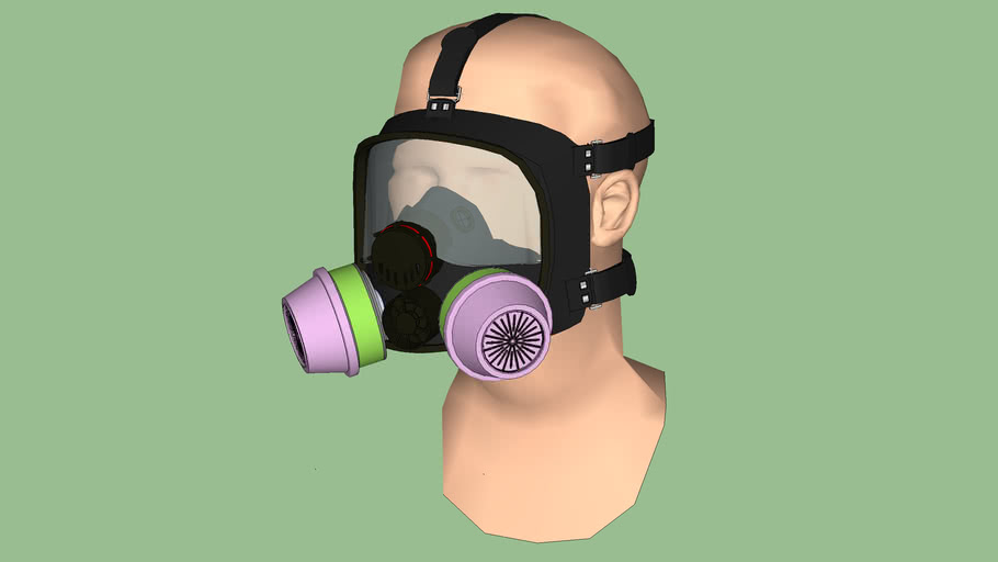 Safety First Series - Respirator- Full-Mask Chemical Cartridge Unit - North Model 7600