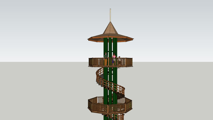 Viewing tower spiral