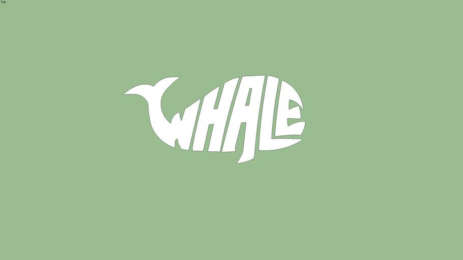 Whale Guitar White 2 Logo