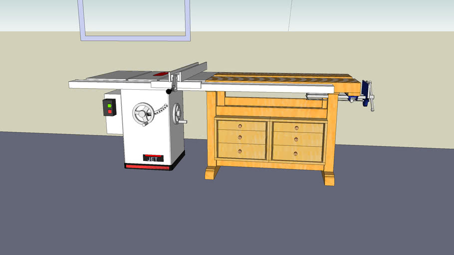 Cabinet Saw Woodworking Bench 3d Warehouse
