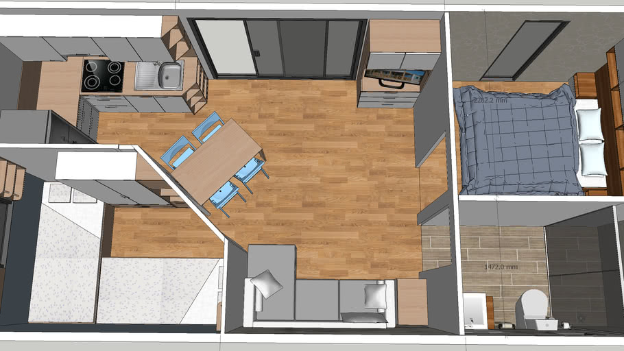 Modern Mobile Home Interior 3d Warehouse