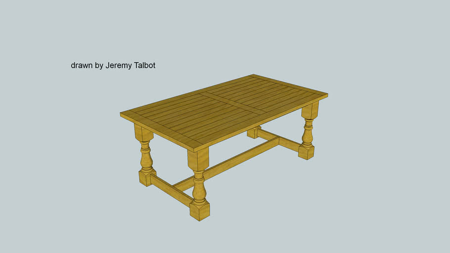 High end rustic dining table