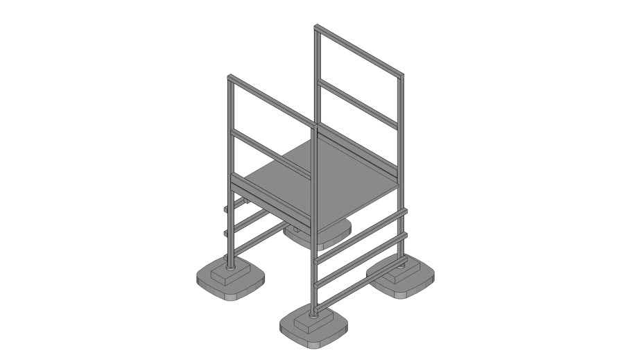 Walraven BIS Yeti® - roof step over, modular set, standing on roof layers, BRL2_H100_W100_L100