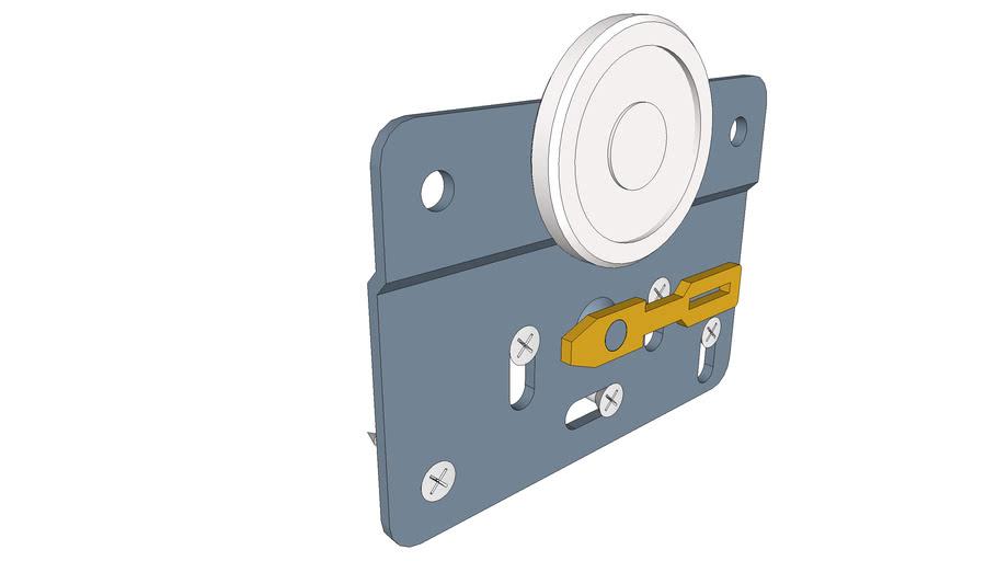 Sistem glisare TopLine 22 Usa PAL interioara, fara bolt.
