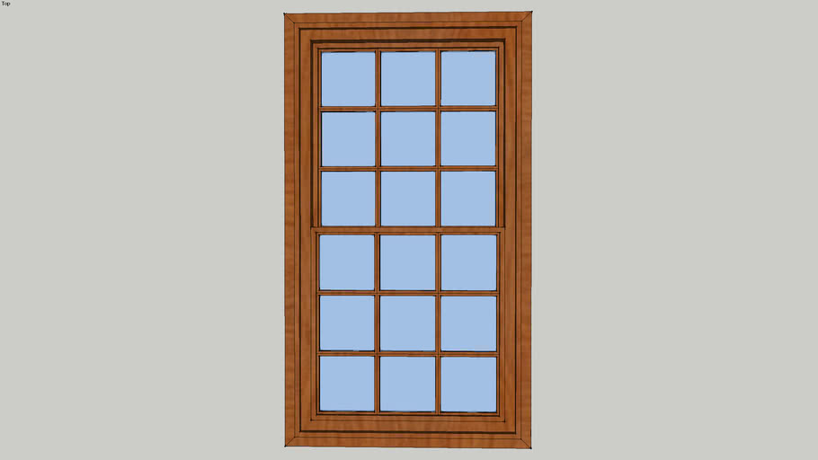 3.5' x 6.5' double hung window