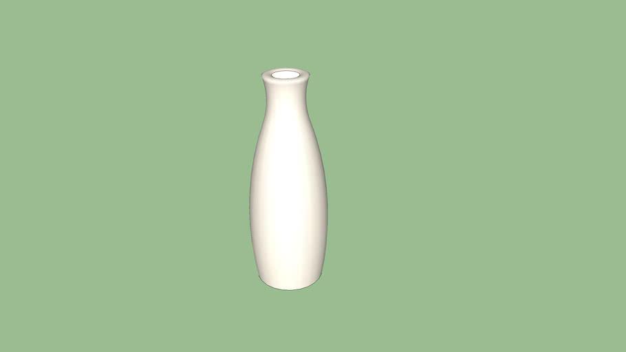 vase blanc 50x16
