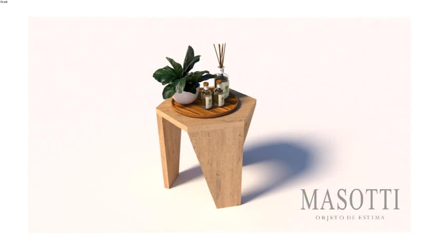 Mesa auxiliar tampo sextavado Coleção Masotti MAS.338.0 F15