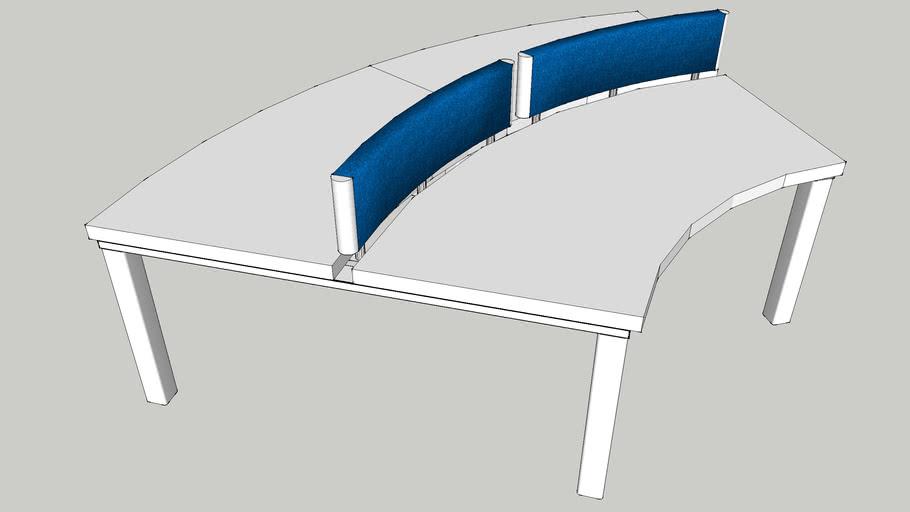 curved desk
