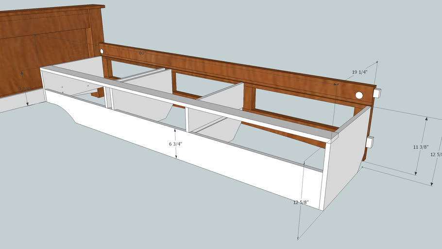 Rodel Bed Side Rail and Box detail