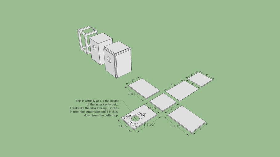 ukebrew DIY cajon | 3D Warehouse