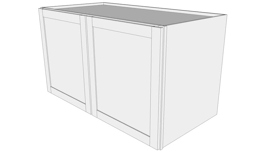 "Bayside Wall Cabinet 24W4827 - 24"" Deep, Two Doors"