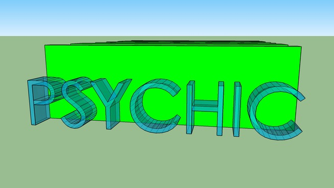 pyshic reality dimensional letters logo