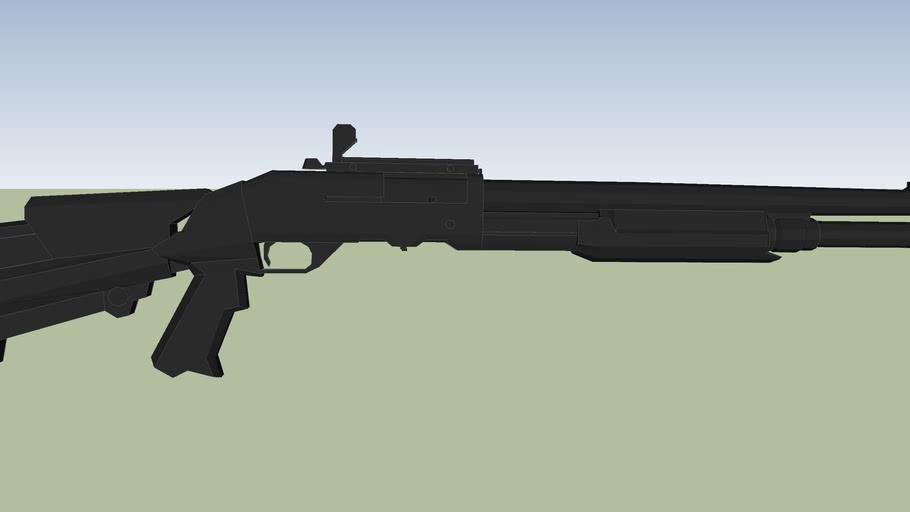arma larga escopeta rifle retrocarga del 16 exclusivo de la policia
