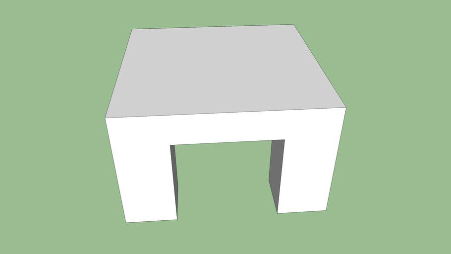 白色四方桌