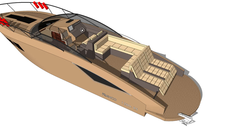 Franco Custom Boats 1280-RS  FULL INTERIOR!