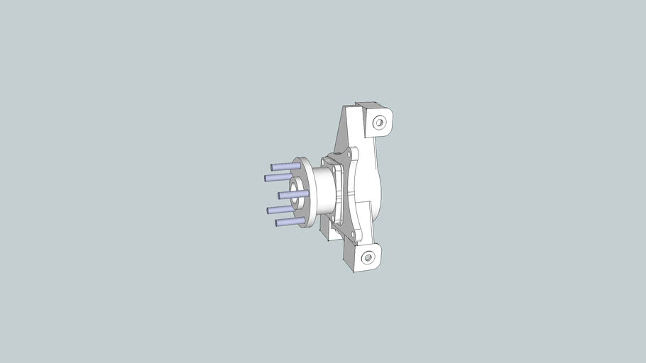 Own design rear hub for Locost car
