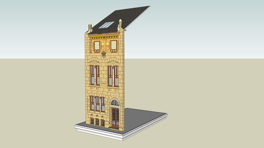 Maquette virtuelle de la façade de la maison autrique de Horta