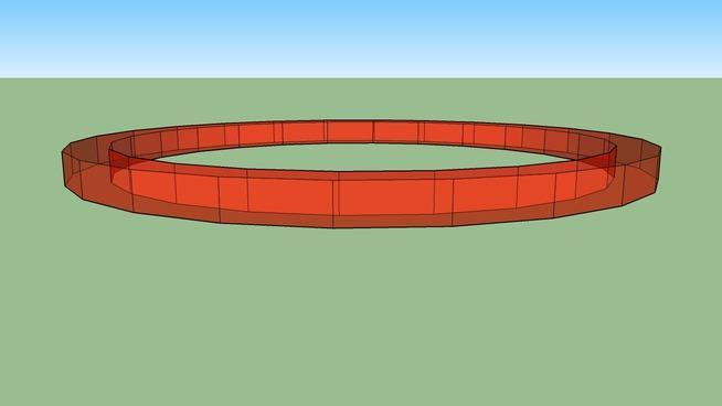 Red Circular Ring
