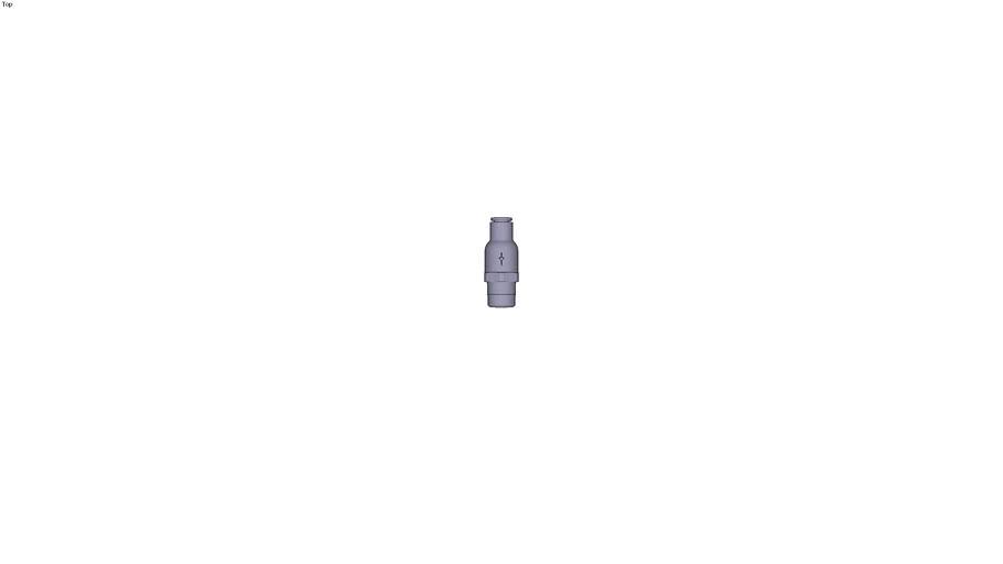 7985 - NON-RETURN VALVE SUPPLY FLOW BSP TAPER DIAM D 6 MM C R1/4