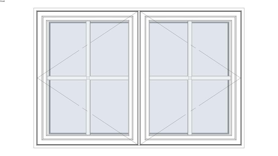 Standard Aluminum Series Double Casement Window