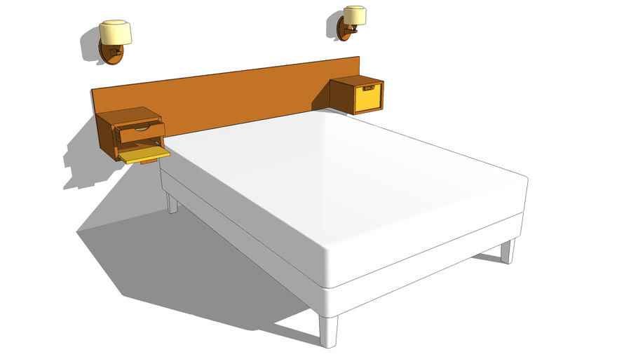 16 (A) – Wall Mounted Bedhead