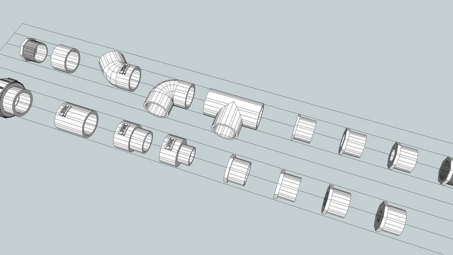 PVC SCH 80 2.5 inch Fittings