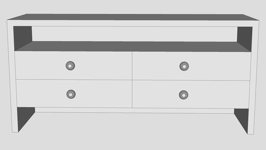 dresser with open shelf