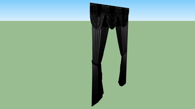 2D Dramatic Black Curtains