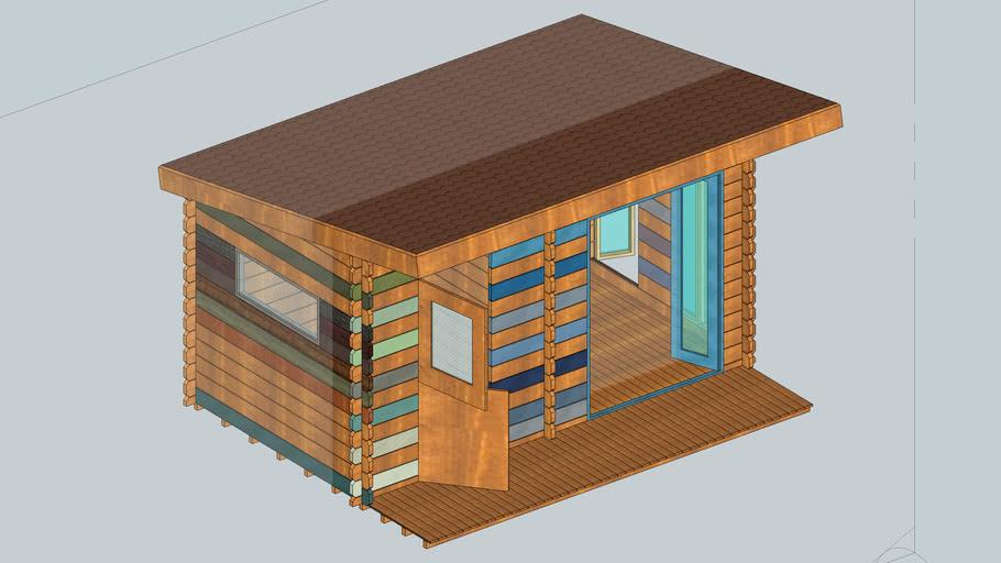 Pent Roof Design Shed Summerhouse 3d Warehouse