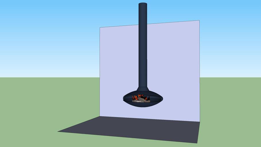 Focus, cheminée suspendue