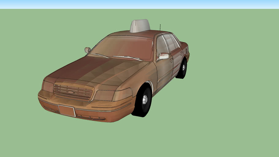 Rusty Ford Crown Vic Taxi