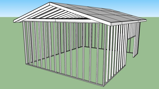 20 by 25 shed unfinished