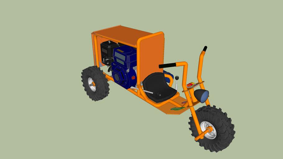 RACING MINI TRIKE WITH NITROUS,ENGINE ENCLOSEMENT,ELECTRIC CHOKE,.......