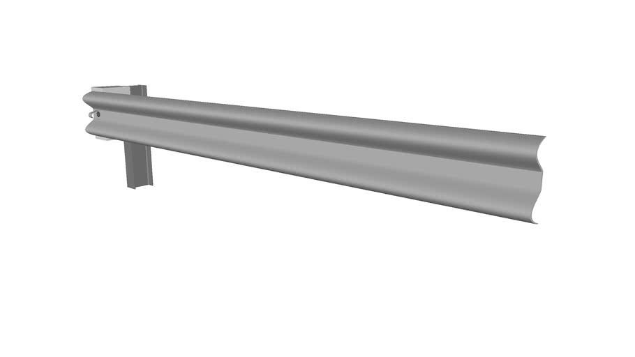 Steel Post Guardrail - Detailed
