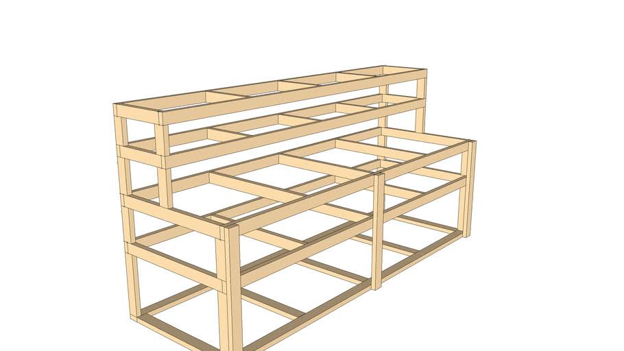 Shelving unit frame