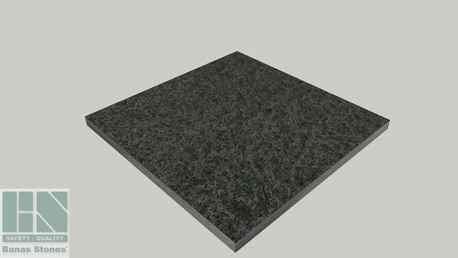 Banas® Stones Natural Pavers/Flagstone - 600mm x 600mm - Jet Black