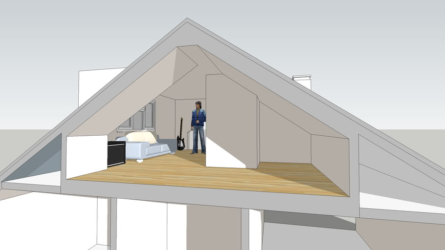 Loft Conversion To 3 Bedroom House 3d Warehouse