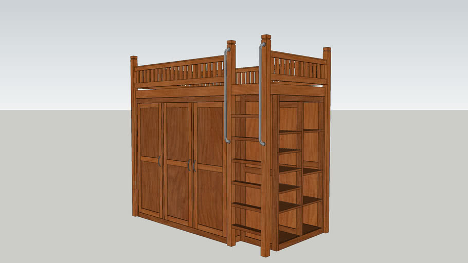 Bed with Cabinet.skp