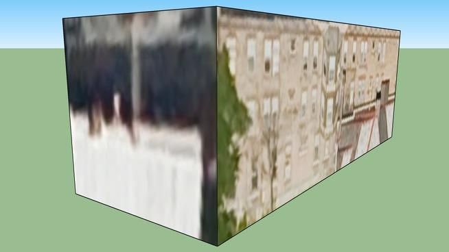 美国俄亥俄州哥伦布市的建筑模型