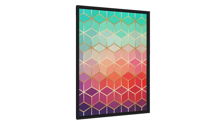 Quadro Mosaico gradiente II - Galeria9, por Arte Decor