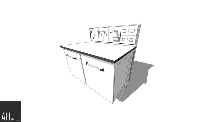 Laboratory casework - Worktop Desk with Doors