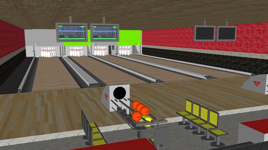 SketchUp Custom Bowling Alley (DETAILED) (4MB)