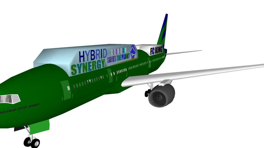 Air Canada R.C.P. Line Alliance AeroCustoms Boeing 777-200HEA Hybrid Electric Aircraft